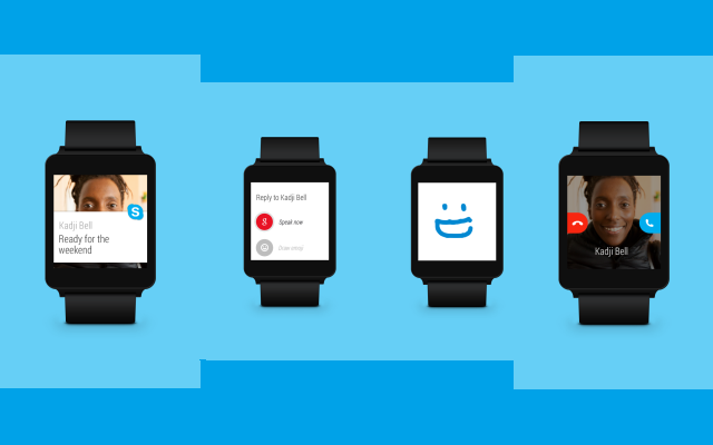Now you can use Skype on your Android Wear smartwatch