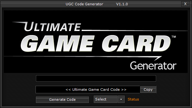 Ultimate Game Card Generator 2013