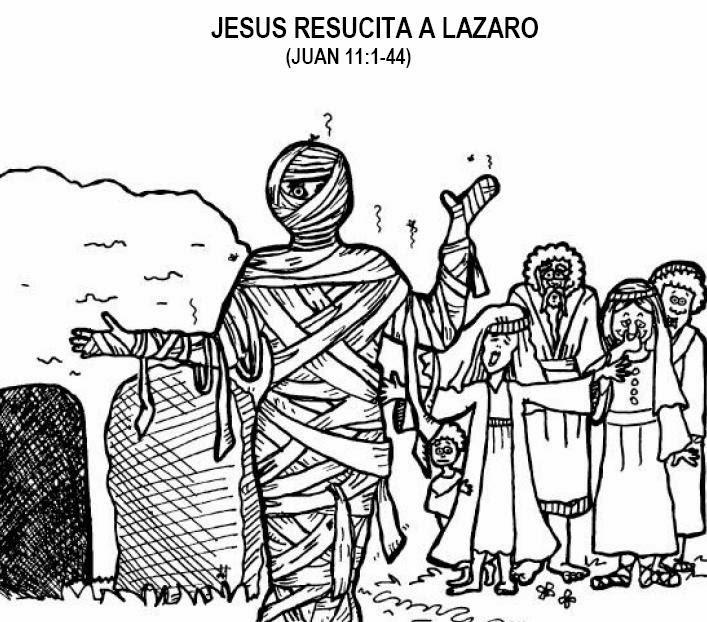 Imagenes Cristianas Para Colorear: La Resurreccion De Lazaro Para ...