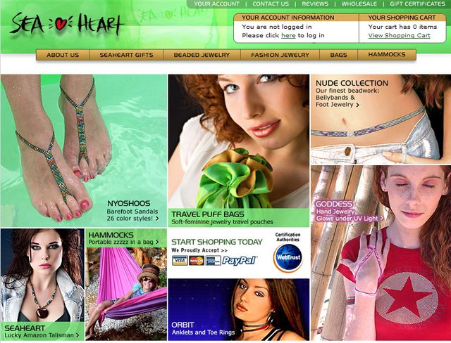 SeaHeart.com - Trends Foot Jewelry