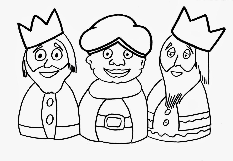 Dibujos de los reyes magos para colorear ~ Portal de Manualidades