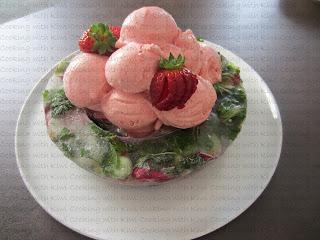 Helado de fresas