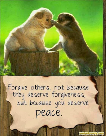 Forgiveness is so important --so that WE can move on!!!!
