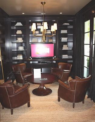 sala decorada para hombres