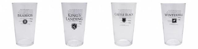 Game of Thrones : nouvelle série de verres à l'effigie des lieux de la série