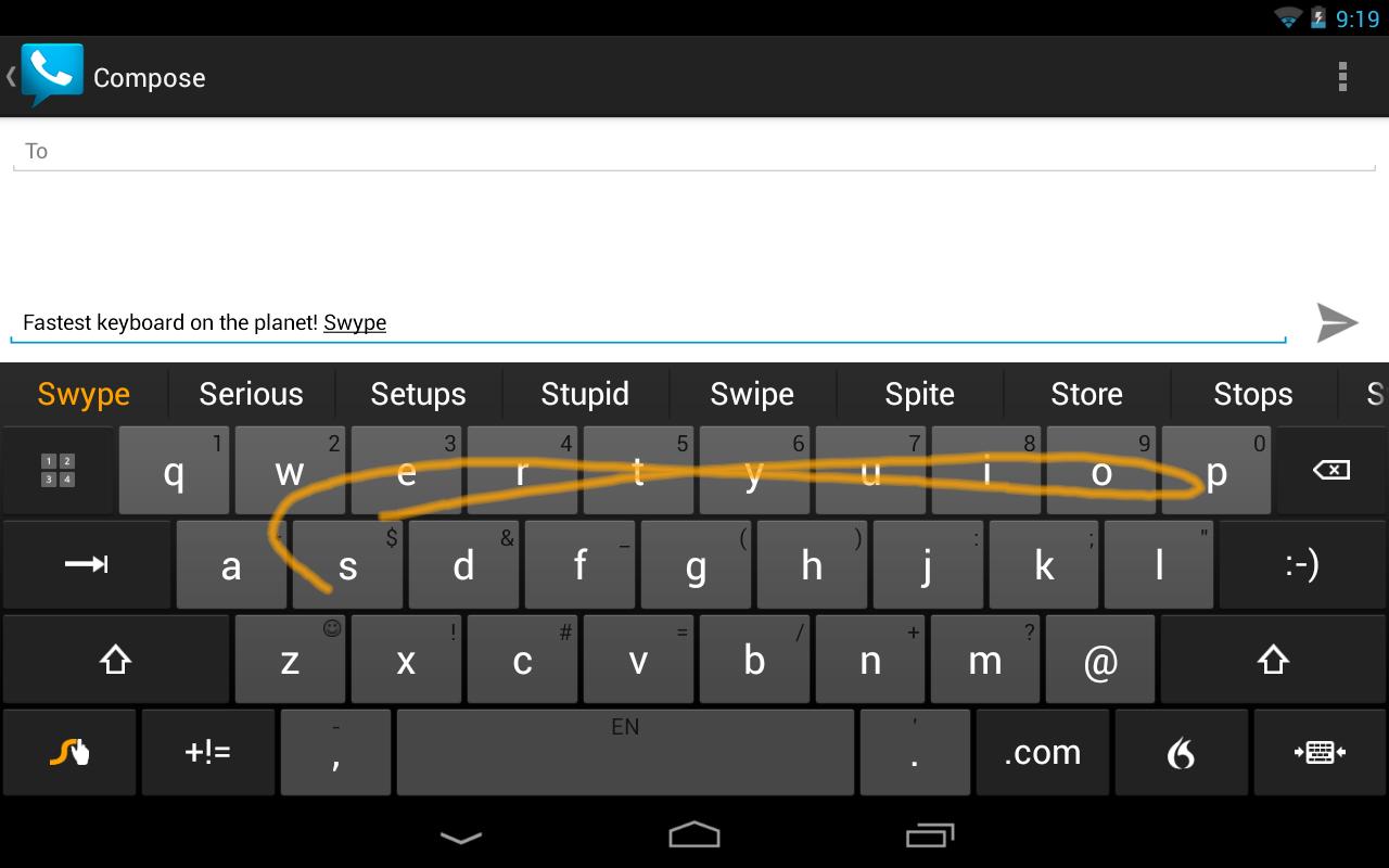 Las opciones de Swype Keyboard en tu dispositivo móvil