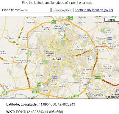 TROVARE LATITUDINE E LONGITUDINE CON GOOGLE MAPS