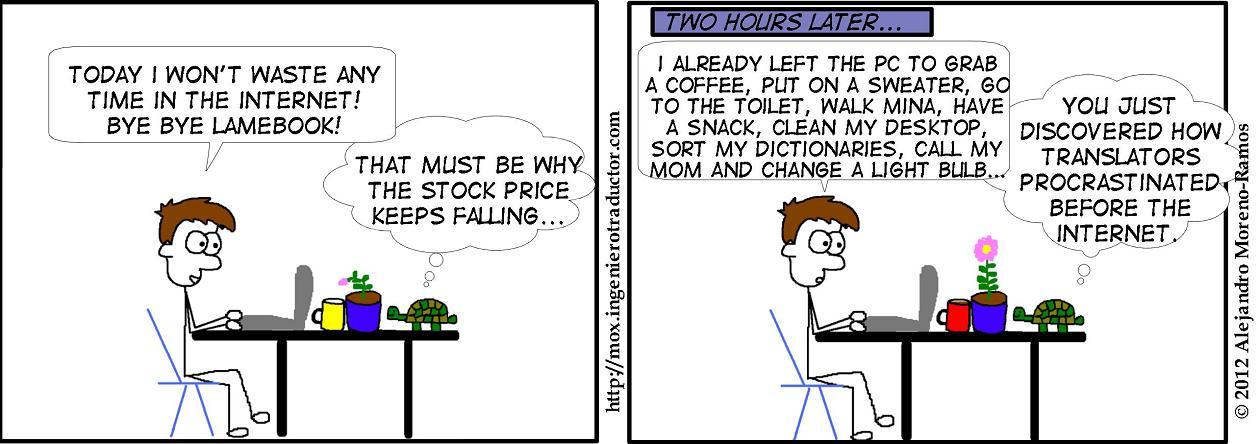 translator procrastinates without lamebook