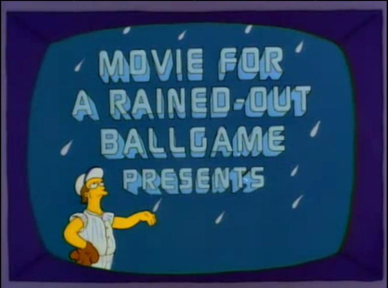 Image result for movie for a rained out ballgame