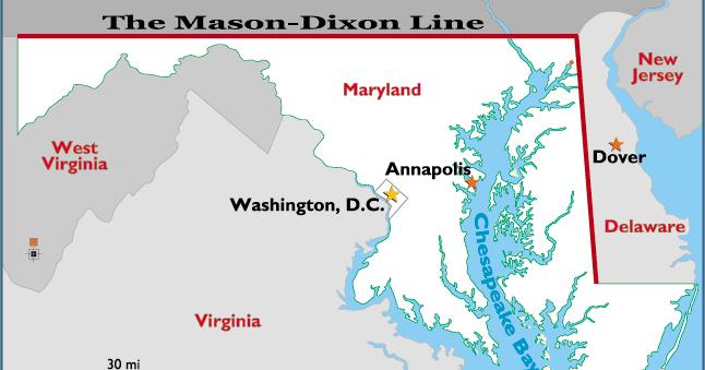 LATELIFE MUSINGS BELOW THE MASONDIXON LINE - States below the mason dixon line