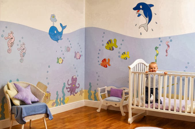 Deco chambre b b en aquarium maison decorative tout decor interieur et exterieur en images - Decoratie murale chambre bebe ...
