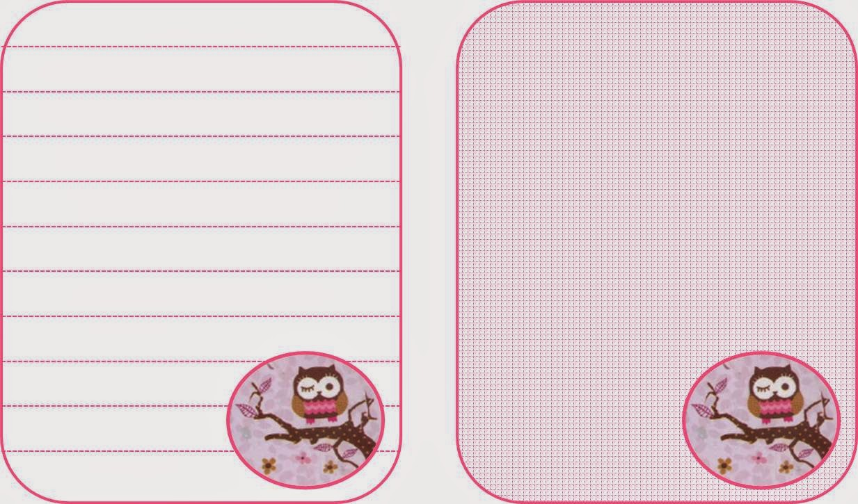 Owl notebook pages - free printable |Keeping it Real