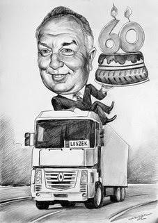 gave for en lastebilsjåfør på sekstiårsdag