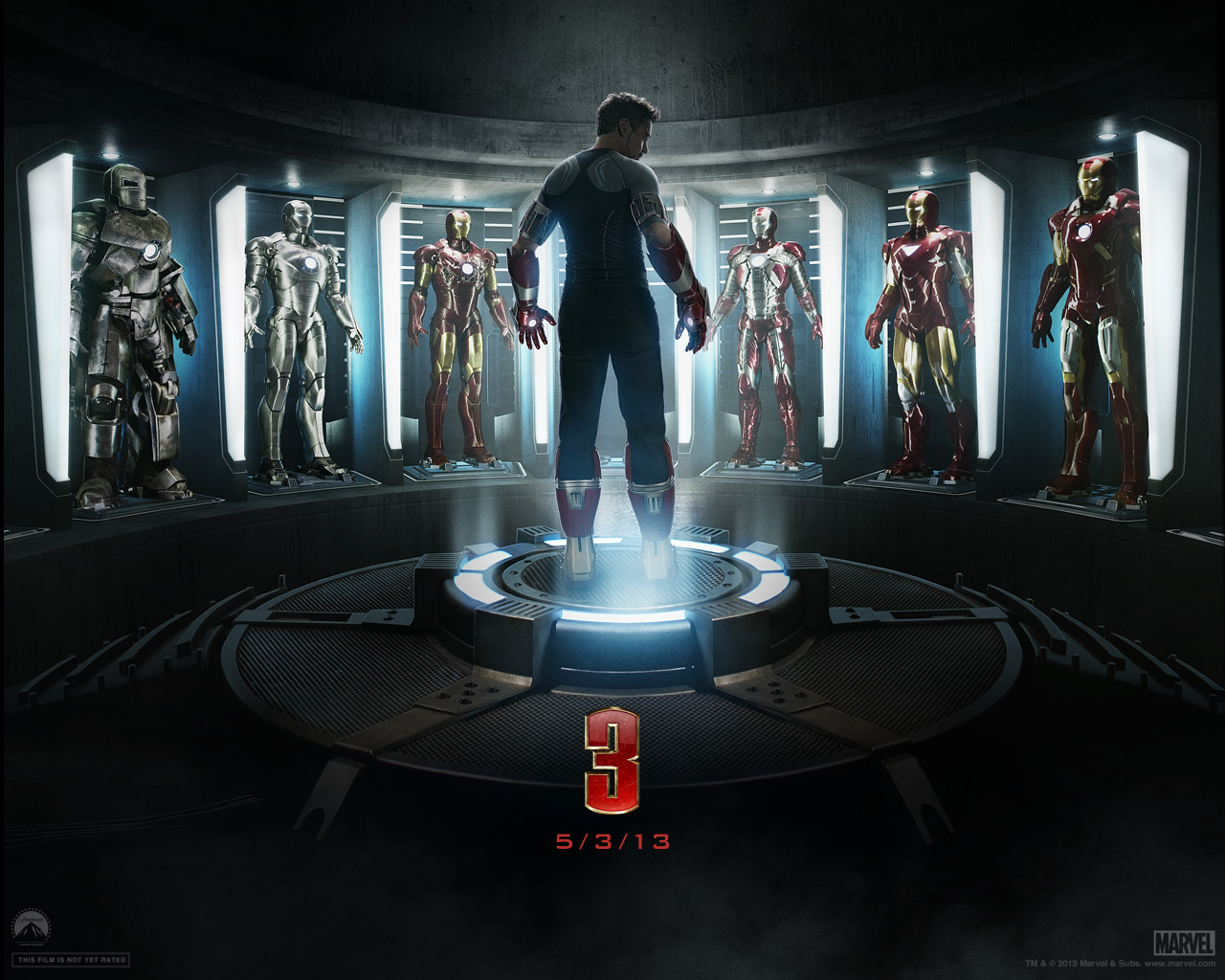 Iron Man 3 wallpaper 1280x1024 001