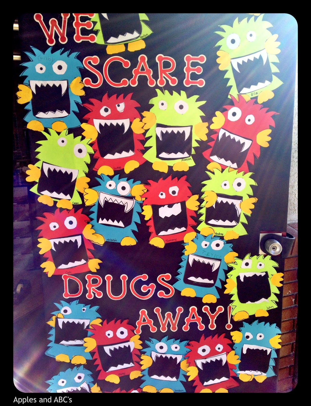 Red ribbon week apples and abcs frankenstein red ribbon week door red ribbon week vtopaller Choice Image