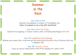 Summer in the keys