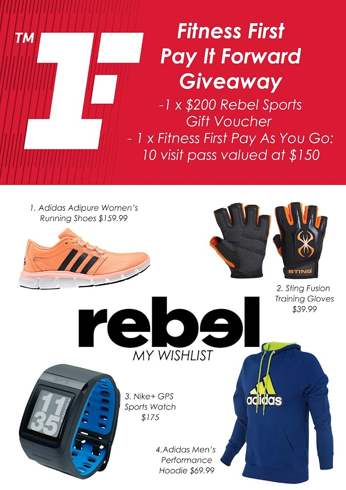 Fitness First Australia 2014 Give away Competition Rebel Sport