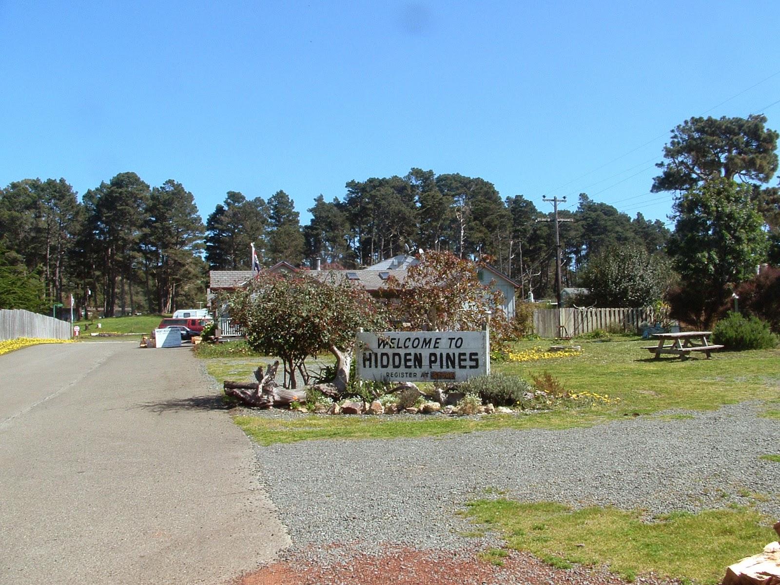 Hidden Pines Rv Park Campground Fort Bragg California