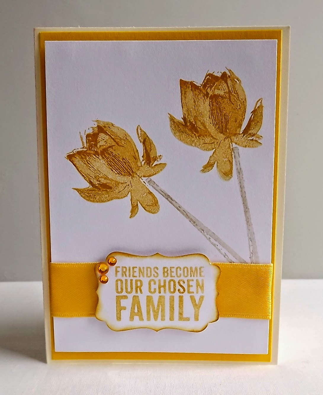 Mellow Yellow card Stampin Up!