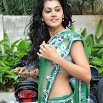 Tapasee Pannu Looks Beautiful and Hot In Green Saree