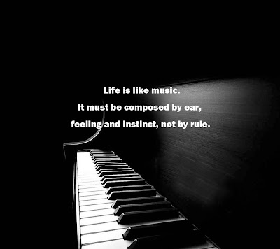 image quotation about music & life