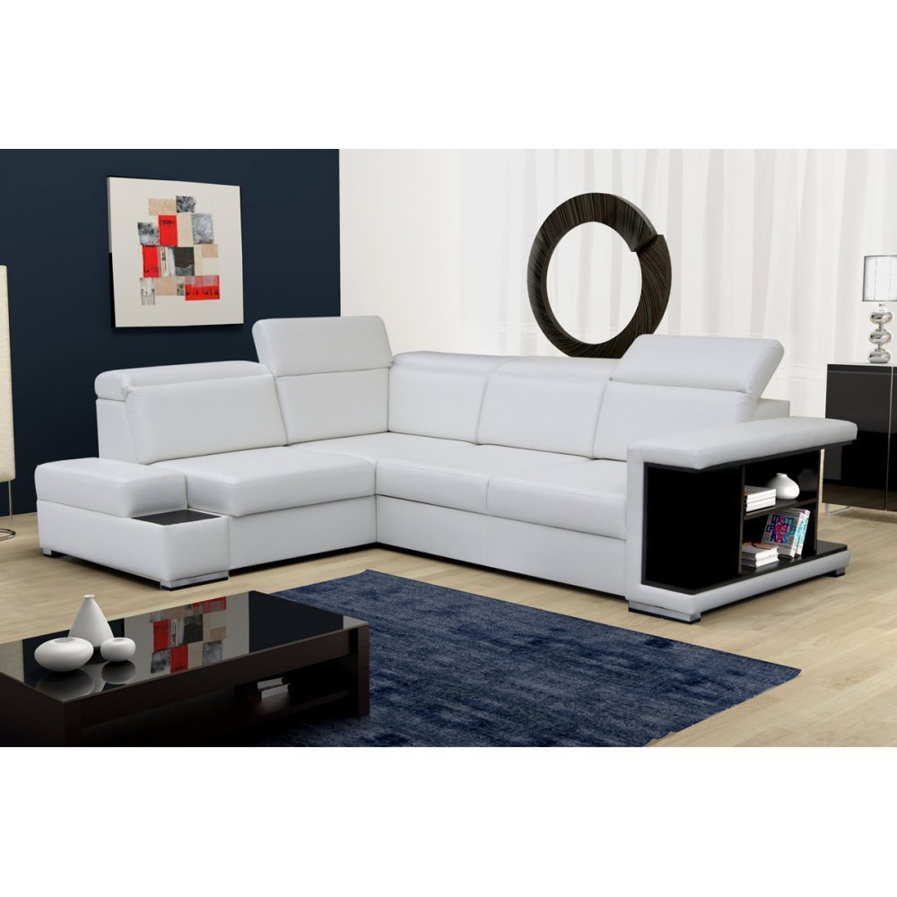 Futuristic Couch Designing Living Room Using White Coffee