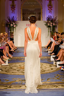 boho braided upstyle to compliment the back detail on the wedding dress