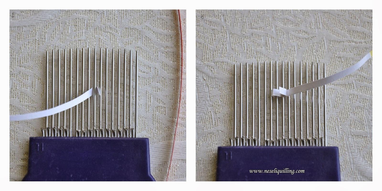 quilling tarakla çiçek yapımı - quilling comb flower tutorial