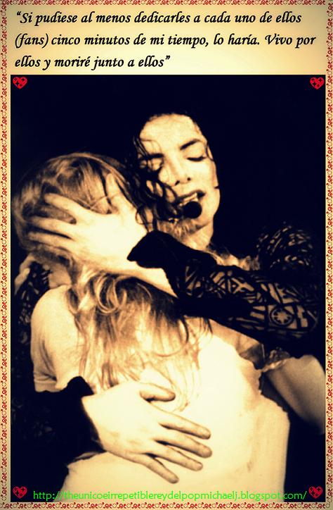 En palabras de Michael para sus fans