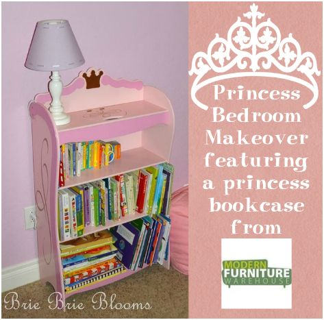 Princess Bedroom Makeover Bookcase From Modern Furniture Warehouse