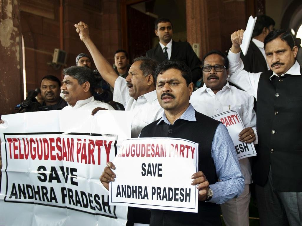 Telangana bill tabled in LS