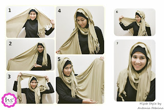 hijab tutorial hijabers surabaya by antania febrina