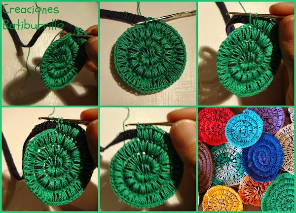 Crochet sobre trapillo: ¡crea espirales coloridas!
