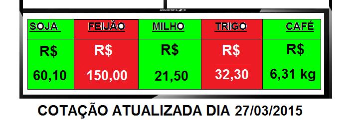 COTAÇAO AGRICOLA