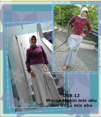 Model Baju Kaos Muslim Osmoes Maroon mix Abu Ungu mix Abu