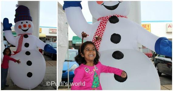 snowman play kids