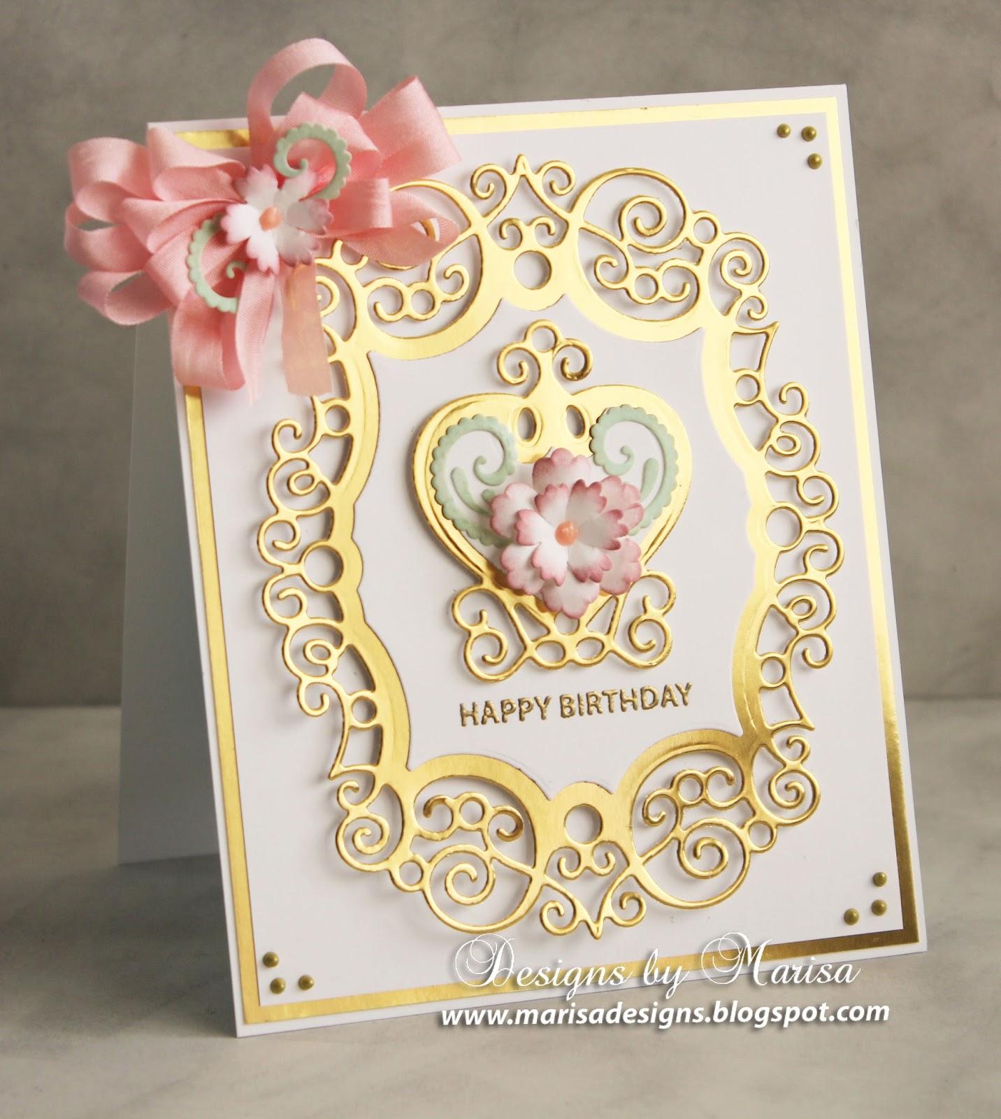 Designs by Marisa JustRite Papercraft Happy Birthday Card – Papercraft Birthday Card