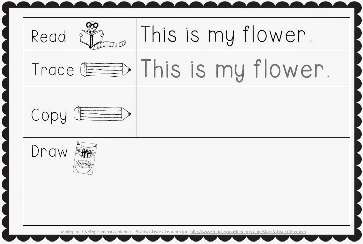 Worksheet Handwriting Sentences sliding into summer with a freebie clever classroom blog making and writing sentences for kindergarten vocab sentence work