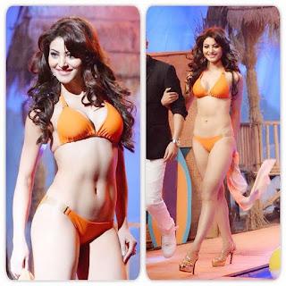 Urvashi Rautela in Bikini for Miss India 2015