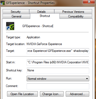 nvidia geforce experience screenshot shortcut