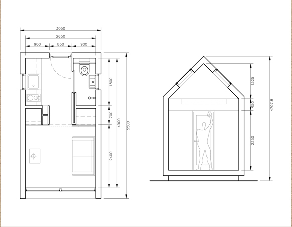 Small scale homes prefab by dwelle for Dwell small house plans