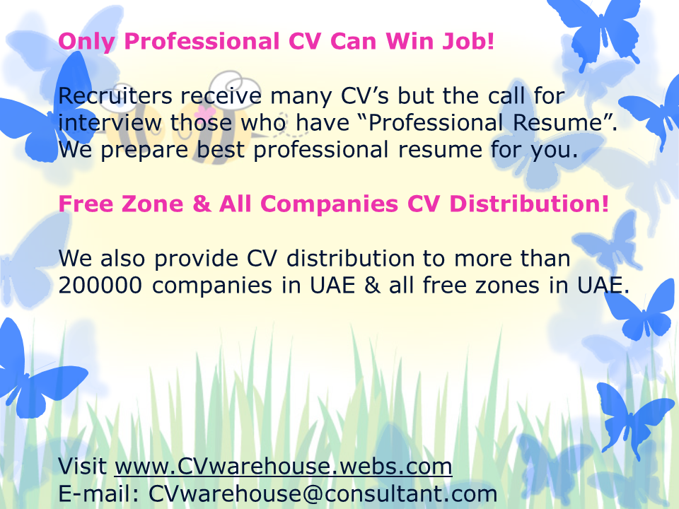 cv writing and cv distribution in united arab emirates