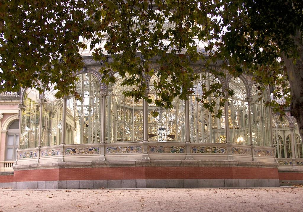 Fotografía palacio de cristal El Retiro Madrid