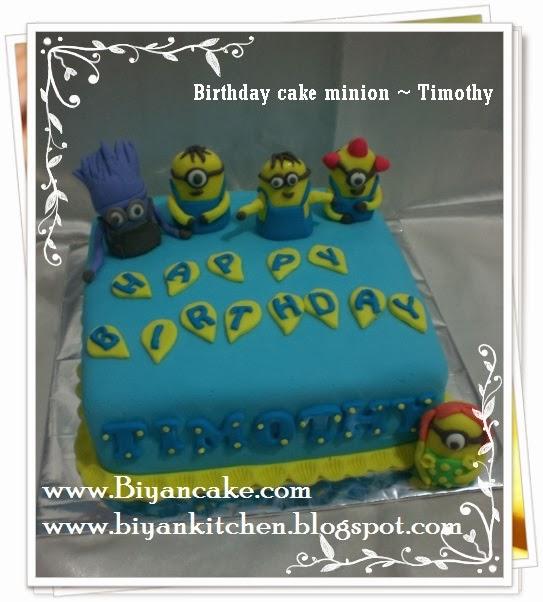 Kue ulang tahun minion