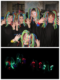 Picture of children wearing light up accessories