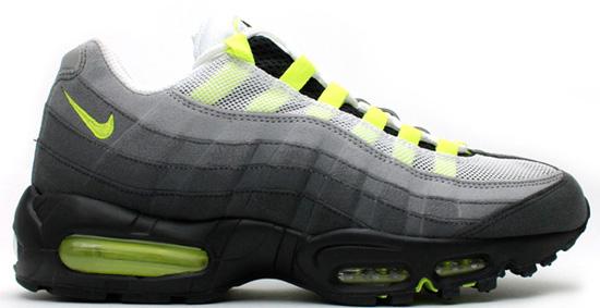 01/03/2013 Nike Air Max \u0026#39;95 OG \u0026quot;Vintage\u0026quot; 554970-174 White/Neon Yellow-Black-Anthracite $145.00