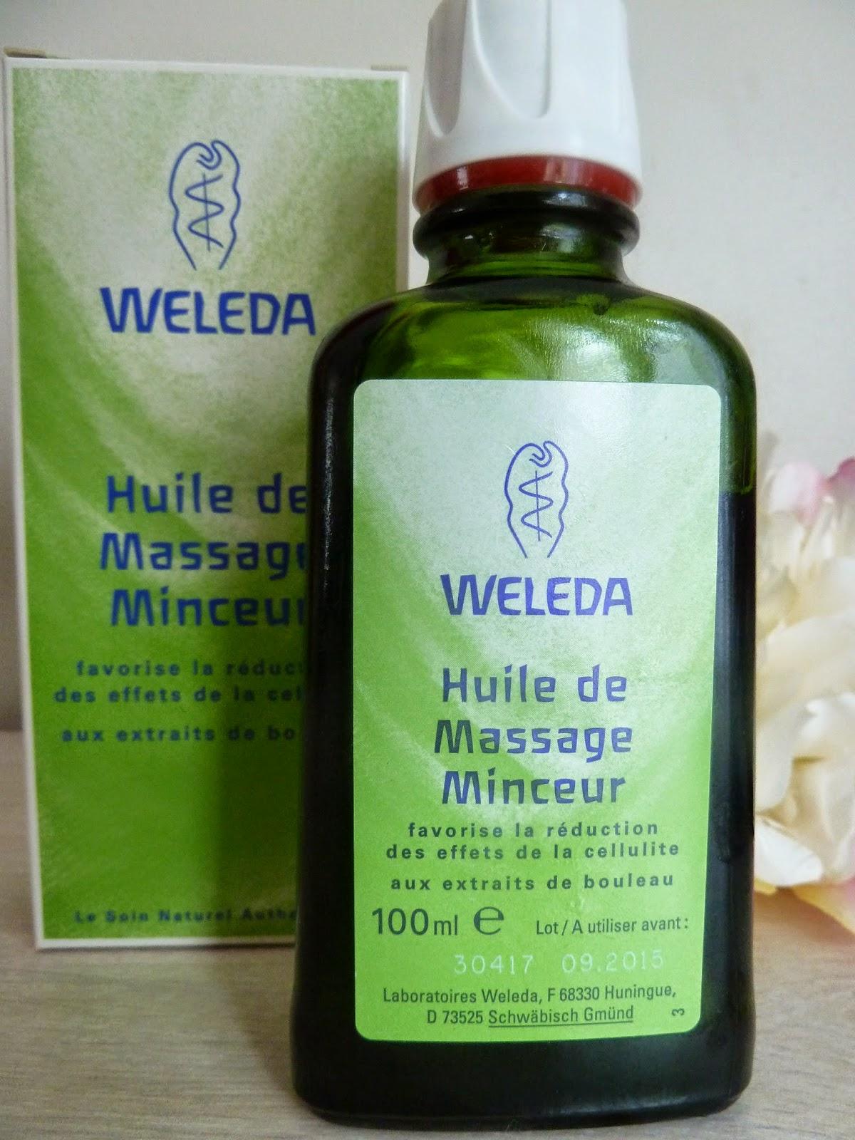 huile anti cellulite weleda