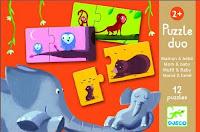 Jeu ludo-éducatif 2 à 3 ans - Puzzle Duo