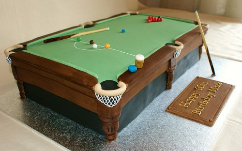 How To Make A Snooker Table Cake