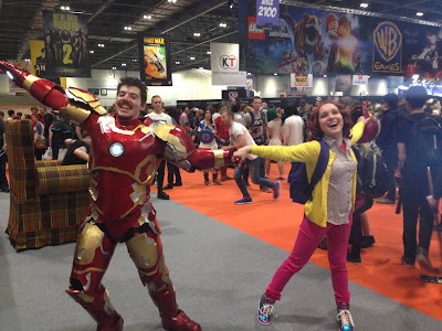 Iron Man and Kimmy Schmidt cosplay